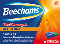 View the Beechams Max Strength all in one range