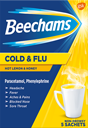 Find out more about Beechams Cold & Flu Hot Lemon and Honey